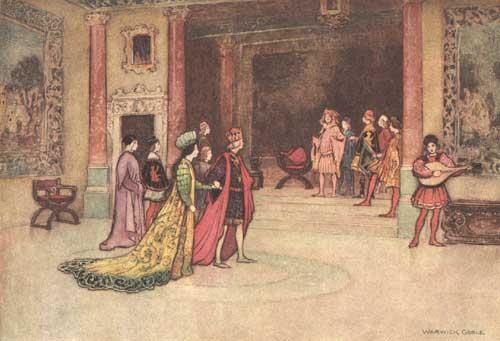 Illustration von Warwick Goble zu dem Märchen Gagliuso aus dem Pentamerone von Giambattista Basile