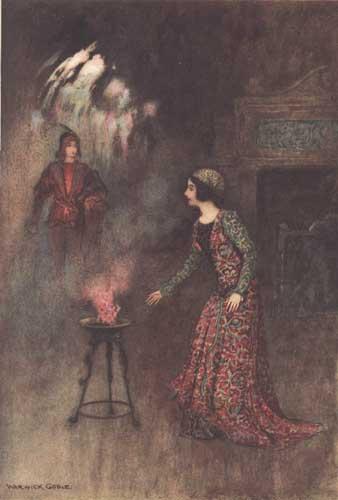 Illustration von Warwick Goble zum Märchen Verdeprato aus dem Pentamerone von Giambattista Basile