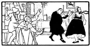 Der alte Hildebrand. Illustration Otto Ubbelohde