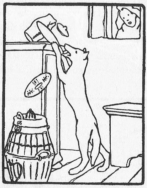 Der Fuchs und der Wolf, Illustration Otto Ubbelohde
