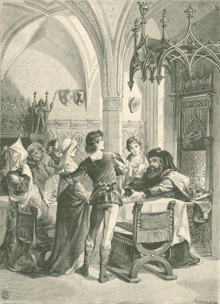Illustration von Philip Grot-Johann uz dem Märchen Die Nelke von den Brüdern Grimm