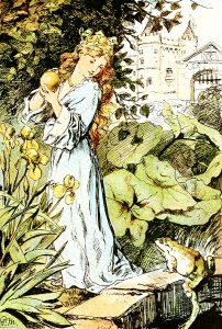 Froschkönig oder der eiserne Heinrich, Illustration Paul Meyerheim