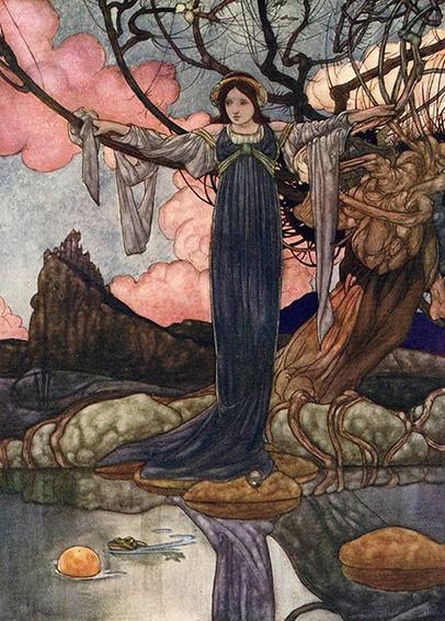 Froschkönig oder eiserne Heinrich, Illustration Charles Robinson
