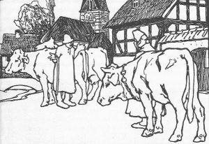 Die klugen Leute, Illustration Otto Ubbelohde