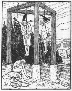 Die beiden Wanderer, Illustration Otto Ubbelohde