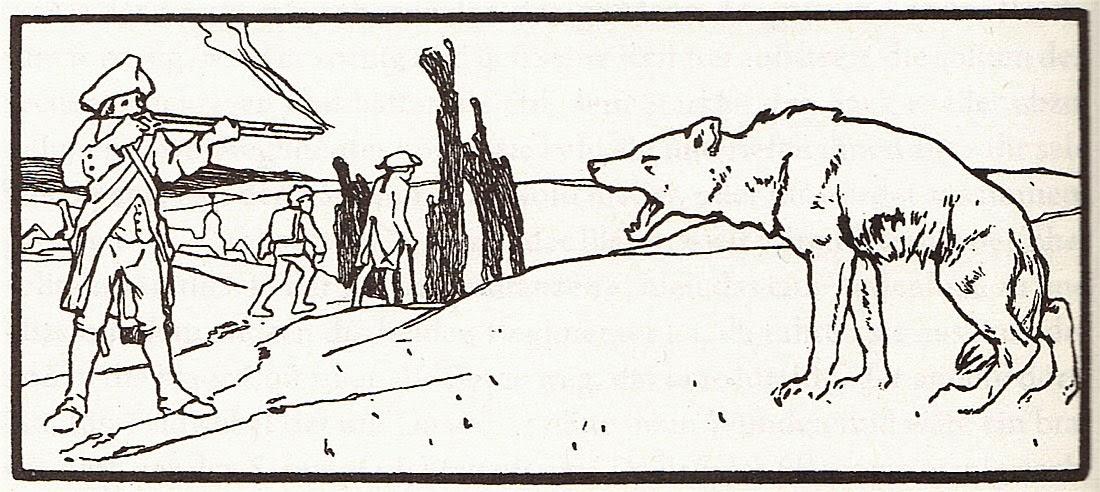 Illustration von Otto Ubbelohde zu dem Märchen Der Wolf und der Mensch von den Brüdern Grimm