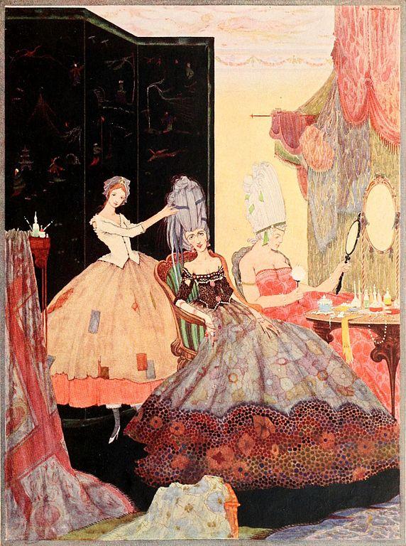 Cinderellas Schwestern machsen sich schön für den Ball, Illustration Harry Clarke