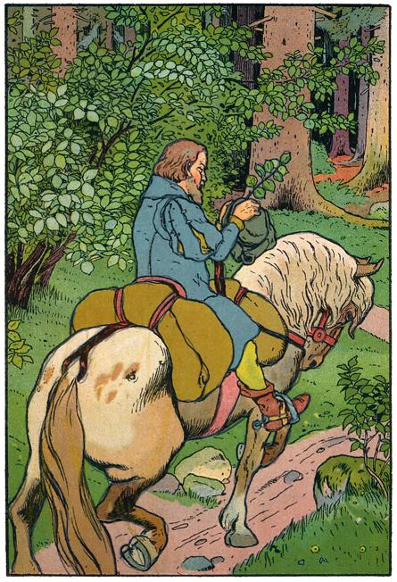 Der Vater bringt Aschenputtel ein Haselreis, Illustration Georg Albert Stroedel