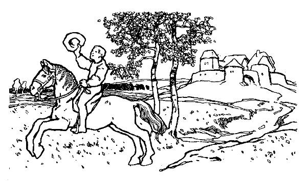 Illustration von Otto Ubbelohde zu dem Märchen Ferenand Getrü un Ferenand Ungetrü