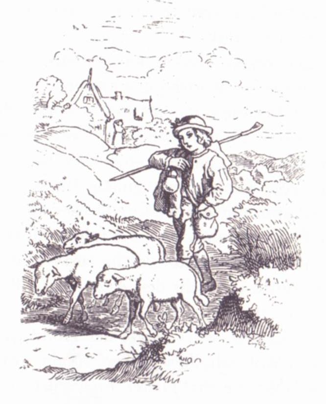 Die drei Hunde, Illustration Ludwig Richter