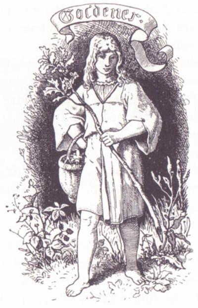 Illustration von Ludwig Richter zu dem Märchen Goldener von Ludwig Bechstein