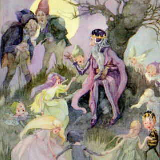 Die Geschenke des kleinen Volkes, Illustration Anne Anderson